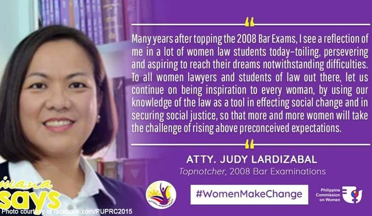 2008 Bar topnotcher Atty. Judy Lardizabal