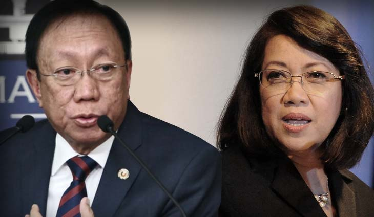 Solicitor General Jose Calida Chief Justice on-leave Ma. Lourdes Sereno